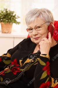 DNNC-Portrait-of-senior-woman-on-landline-phone-